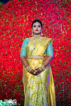 Latest Bridal Saree Designs are Pastel Shades of Kanjeevaram Bridal saree collection. Peach shade sarees, Lilac bridal sarees, Purple kanchipuram sarees, Turquoise Sarees, Mint shade saree designs and many more collection in handloom sarees Wedding Saree Blouse Designs, Pattu Saree Blouse Designs, Silk Saree Blouse Designs, Lehenga Designs, Blouse Patterns, Mehndi Designs, Bridal Silk Saree, Saree Wedding, Silk Sarees