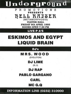 Browse through our old skool galleries from Acid House to Happy Hardcore, signup to upload your own flyer scans and join the community.