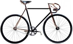 Bespoke Madison Street Bicycle Zip northbound up Madison Avenue on this handmade bike with rose gold accents and leather seat. Its minimalis. Gentleman, Fixed Gear Bicycle, Cycling Gear, Mountain Bike Shoes, Bicycle Maintenance, Bike Accessories, Street Bikes, Vintage Bicycles, Cool Bikes