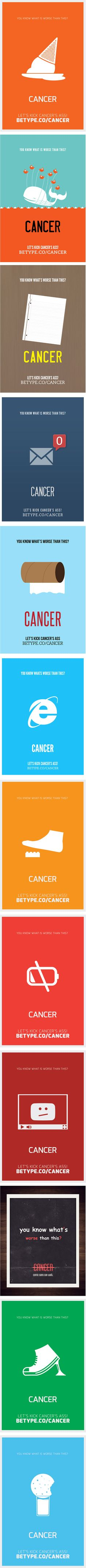 Let's Kick Cancer's Ass Posters | #poster #cancer