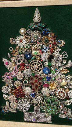 Vintage jewelry on pinterest vintage jewelry jewelry christmas tree