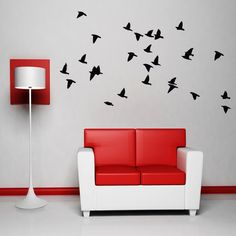 Wall Decal Flock Of Birds Wall Decals Vinyl Sticker by HappyWallz