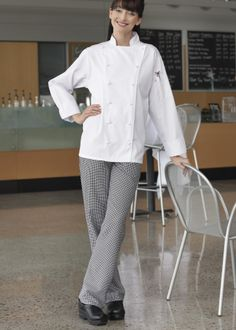 Uncommon Threads - Style # 4101 Houndstooth #cooking #chefs #food #uniforms
