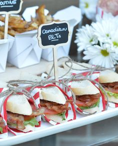 Canadian BLTs Canadian Food, Canadian Recipes, Canada Day 150, Canada Day Fireworks, Canada Day Party, Canada Holiday, Pub Food, Thinking Day, Spring Recipes