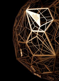 Innovative lamp design - Etch Web Lamp by Tom Dixon