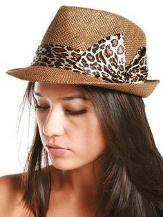 Leopard bow trim fedora hat - Hats & Hair - ACCESSORIES A'GACI - StyleSays