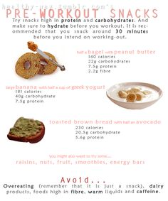 Pre Workout Snacks #workout #gym #healthy #food #exercise #diet