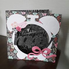 Handmade card using craftwork cards chalkboard collection by Mary Gillingham