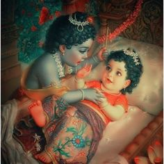 So Beautiful!! Most cute picture of Bal Gopal and the most cutest Radha