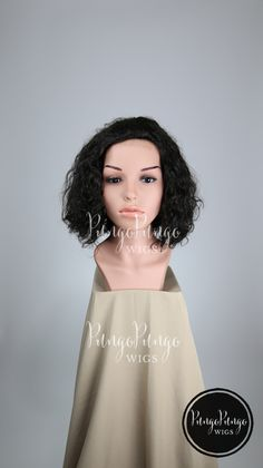 100% Human Hair Wig /Natural Dark Mix Black Brown Womens Mens Unisex Everyday Wear Real Hair/ Heat Safe Curly Wavy Short Fashion Cosplay ken by PungoPungo on Etsy
