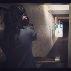 I'm a #natural with the aim . #guns#shooting#gun#dreads#locs#me#fun#shots#fire#bang#boom#inatacool#instagood#pow#style#art by nerdius_prime