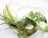 Peridot Green Fairy Mask