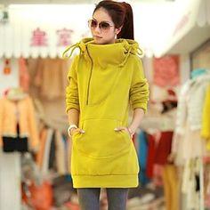 alto cuello largo con capucha de las mujeres - CLP $ 20.530