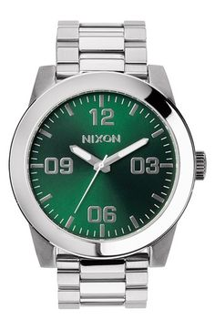 Nixon 'The Corporal' Bracelet Watch, 48mm available at #Nordstrom