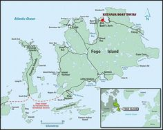 Fogo Island: The Ultimate Newfoundland Travel Experience Newfoundland Island, Canada Tourism, Small Sailboats, Island Map, O Canada, Boat Tours, Rest Of The World, Atlantic Ocean, Water Crafts