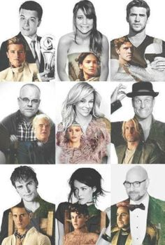 Actors and actress of Hunger Games