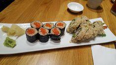 Shizen Ya Vancouver - Salmon Nigri and Dynamite Roll Vancouver Food, Delicious Restaurant, Sushi Restaurants, British Columbia, Salmon, Rolls, Tasty, Canada, Ethnic Recipes