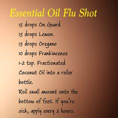 Essential oil flu shot