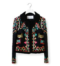 VALENTINO BLACK JACKET WITH MULTICOLOR EMBROIDERY http://www.ekseption.es/category1071/black-jacket-multicolor-embroidery