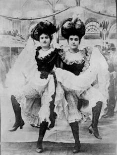 1880s cancan girls from the Moulin Rouge (not burlesque, but still fabulous)
