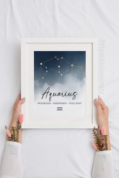 Paris Wall Decor, Office Wall Decor, Astrology Stars, Aquarius Sign, Or Mat, Star Chart, Fashion Wall Art, Personalized Signs, Wall Art Sets