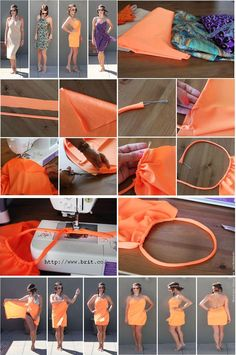 52 Ideas diy summer sewing beach covers for 2019 Sewing Hacks, Sewing Tutorials, Sewing Crafts, Sewing Projects, Sewing Patterns, Sewing Diy, Diy Clothing, Sewing Clothes, Do It Yourself Mode