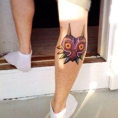 La máscara de Majora:   30 tatuajes buenísimos inspirados por Nintendo