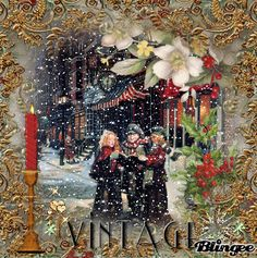 Vintage Caroling in The Snow my Art Jane's Doll Closet Xmas Gif, Merry Christmas Gif, Holiday Gif, Christmas Scenery, Magical Christmas, Christmas Past, Cozy Christmas, Animated Christmas Pictures, Christmas Images