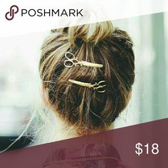 Scissor Hair Pin Set Gold tone, new, *UNBRANDED -LISTED FOR EXPOSURE* ModCloth Accessories Hair Accessories