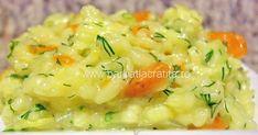 Pilaful de orez cu legume este o reteta de post rapida ce poate fi servita atat ca garnitura, cat si ca fel principal de mancare. Helathy Food, Rice Recipes, Healthy Recipes, Romanian Food, Romanian Recipes, Rice Dishes, Risotto, Mashed Potatoes, Veggies