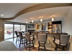 The Perfect Addition To Any Man Cave. This Modern Bar Makes This Maple  Grove Home