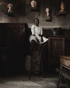 """Grace Bol in """"Fashion Art"""" by Max von Gumppenberg & Patrick Bienert for Vogue Germany, May 2014"""