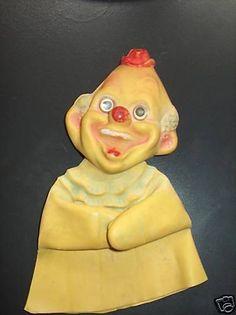 Rare Antique Vintage Rubber 1950 ish Clown Hand Puppet
