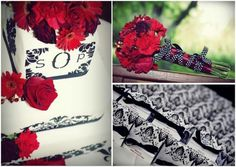 red and white wedding themes | red black and white wedding ideas. Featured Wedding: Sarah and