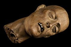 Carved wooden head of a Christian martyr, Europe, 1501-1600