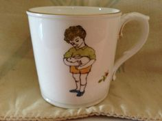 Royal Worcester Friday's Child China Mug by SylviasFinds on Etsy, $15.00