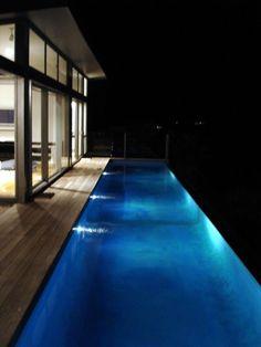 Pool at night -