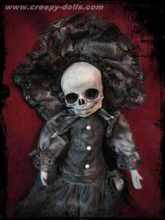 Creepy Doll by Bastet2329 - Mourning Skull.  www.creepy-dolls.com