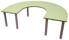 Mesa en U de madera