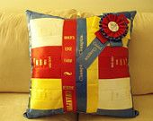 Personalized Handmade Horse Show Ribbon Pillow