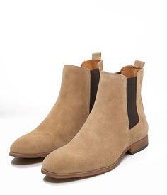 Le produit du jour est une paire de bottines pour homme façon Chelsea Boots…  Beige 6acf01ad4be9