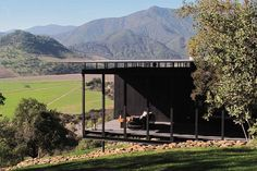 Cabin in the vineyards at Vina Vik, Chile. Is this the most awesome place!