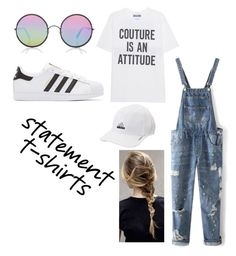"""Untitled #29"" by kyky5irv ❤ liked on Polyvore featuring Moschino, WithChic, Sunday Somewhere, adidas Originals and adidas"
