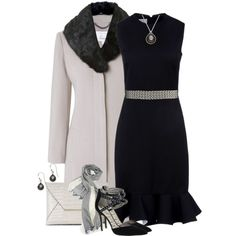 Evening Out in Oyster & Black, created by brendariley-1 on Polyvore