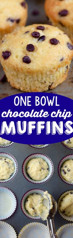 These One Bowl Chocolate Chip Muffins never last long in my house! They are easy and so delicious!