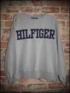 Vintage 90's Tommy Hilfiger Spelled Out Crewneck by RackRaidersVintage, $30.00