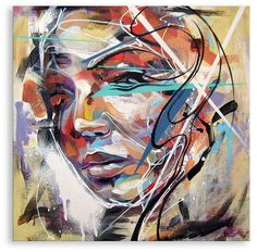 portrait with swirls by Art By Doc, via Flickr