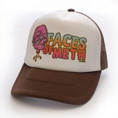 TOXICO - FACES OF METH http://toxico.uk/29-headwear £13.95 #truckerhat #graffiti #art