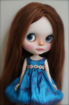 OOAK Blythe doll by Forty Winks Doll Studio's Lassy (translucent RBL)