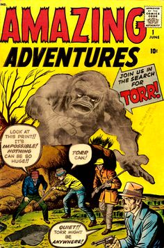 Amazing Adventures Vol. 1 No. 1 Jun 1961: Join us in the search for Torr!, Cover art by Jack Kirby and Dick Ayers